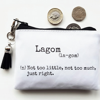 Waterproof pouch,Lagom,Swedish,credit card wallet, business card holder,coins.