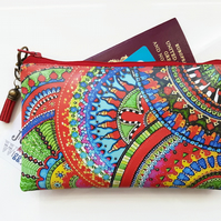 Travel Gifts, Waterproof Wallet, zentangle,zendoodle,passport gift set,eco gift,