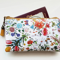 Travel Gifts, Waterproof Wallet, Floral,passport gift set,eco,green gift,