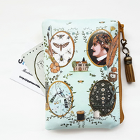 Oilcloth Eclectic Print, Coin purse,credit card wallet,business card holder.