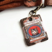 Cat keyring,bag charm,purse charm,bag tag,bag accessory,key chain