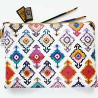Eco Gift Ideas,ikat,Waterproof iPad sleeve 9.7, iPad air 2, toiletry bag,