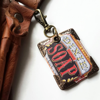soap bar keyring,bag charm, purse charm,bag tag,bag accessory,key chain,charm,ba