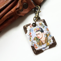 Frida Khalo keyring,bag charm, purse charm,bag tag,bag accessory,key chain,