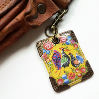 Folk keyring,bag charm, purse charm,bag tag,bag accessory,key chain,