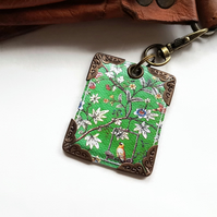 Chinoiserie keyring,bag charm, purse charm,bag tag,bag accessory,key chain,