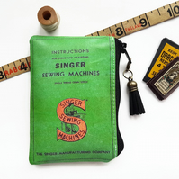 Pvc-free small wallet,singer sewing, sewing theme, business card holder