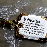 bohemian keyring,bag charm, purse charm,bag tag,bag accessory,key chain,