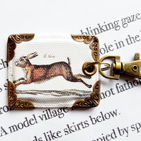 Hare keyring,bag charm, purse charm,bag tag,bag accessory,key chain,