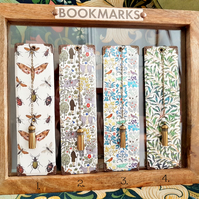Bookmarks,book lover,green gift,book worm,literary gift,nature,insects,farms.