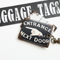 Luggage tags,retro tags,bag tags,travel tags,luggage labels,labels,vintage font,