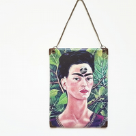 Hanging waterproof reversible Wall Art, frida khalo