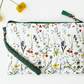 Faux leather botanical green wristlet clutch,credit card pockets