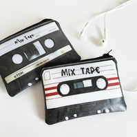 Cassette tape wallet,credit card size,card wallet,water resistant wallet,music
