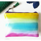 Rainbow wallet,water resistant colour pop pouch,vegan leather purse, eco wallets