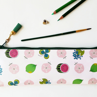 Waterproof Pencil Case,pink and green pouch,brush bag,