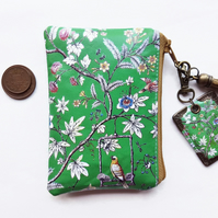 Gifts under 10, Stocking Fillers,Chinoiserie,business card holder,faux leather.
