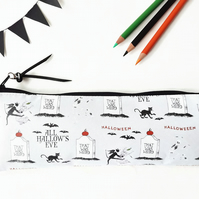 Back to school Art gifts, Waterproof Pencil Case,Halloween fabric, brush bag, cr