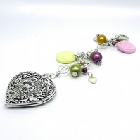 Bag Charm with Love Hearts