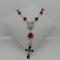 Red Sea shell Pearl 1 Decade Rosary