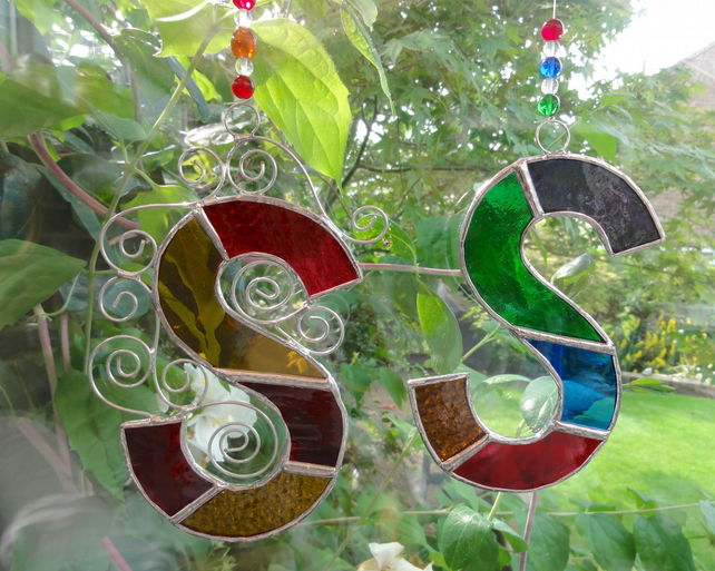 Stained Glass Letter Suncatcher - TO ORDER