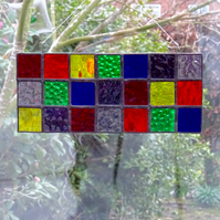 SALE - Stained Glass Rainbow Panel Suncatcher