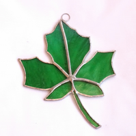 SALE - Stained Glass Maple Leaf Suncatcher