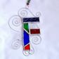 Stained Glass Letter F Suncatcher - Multi