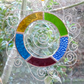 Stained Glass Letter O Suncatcher - Multi