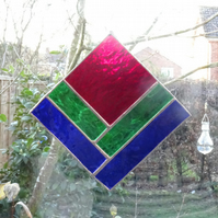 Stained Glass Square Suncatcher - SALE