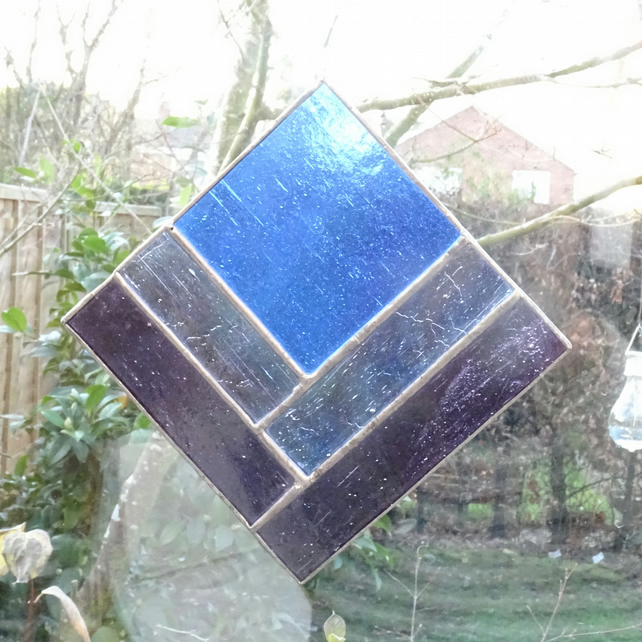 SALE - Stained Glass Square Suncatcher - SALE