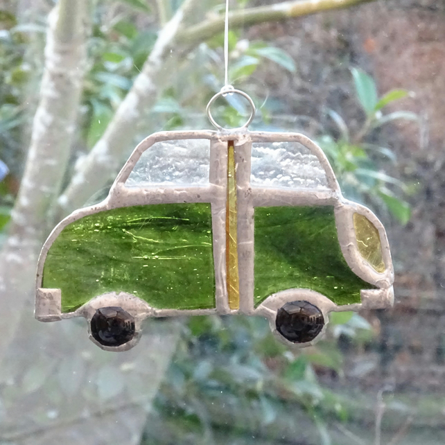 Stained Glass Car Suncatcher - SALE