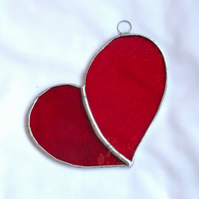Stained Glass Lazy Heart Suncatcher