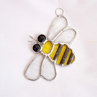 Bee Stained Glass Suncatcher TO ORDER - Handmade Hanging Decoration