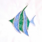Stained Glass Angel Fish Suncatcher - Handmade Decoration - Blue and Green
