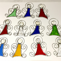 Stained Glass Mini Angel Suncatchers - Handmade Hanging Decoration