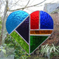 Large Stained Glass Heart Suncatcher - Handmade Decoration - Multi Coloured