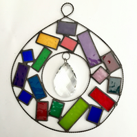 Stained Glass Abstract Suncatcher - Handmade  Decoration
