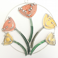 Stained Glass Cow Parsley Suncatcher- Handmade Window Decoration