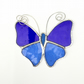 Stained Glass Butterfly Suncatcher - Handmade Decoration - Blue