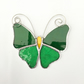 Stained Glass Butterfly Suncatcher - Handmade Decoration - Green