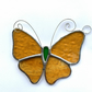 Stained Glass Butterfly Suncatcher - Handmade Decoration - Amber