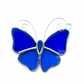 Stained Glass Butterfly Suncatcher - Handmade Decoration - Turquoise