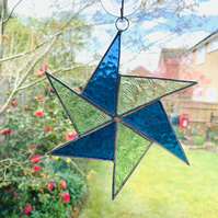 Stained Glass Windmill Suncatcher - Handmade Hanging Window Decoration