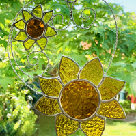 Stained Glass Sunflower Suncatcher - TO ORDER - Handmade Hanging Decoration
