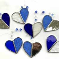 Stained Glass Heart Suncatcher - Handmade Hanging Window Decoration