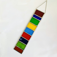 Stained Glass Strip Garden Hanger - Handmade Hanging Decoration