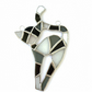 Stained Glass Cat Suncatcher - Handmade Hanging Decoration - Black White