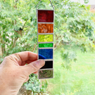 Stained Glass Rainbow Strip Garden Hanger Small - Handmade Hanging Decoration