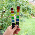 Stained Glass Rainbow Strip Garden Hanger Mini - Handmade Hanging Decoration